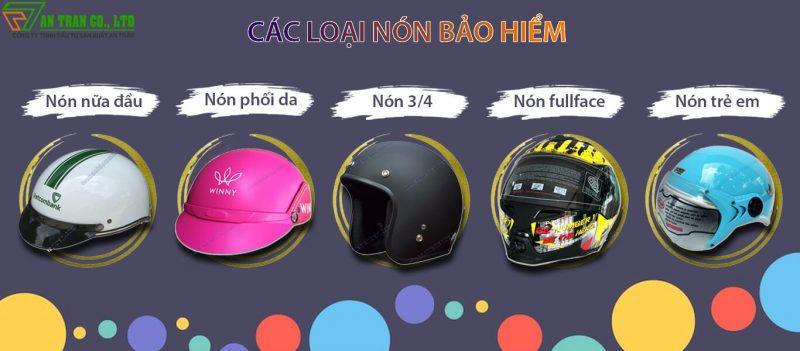 các loại nón bảo hiểm